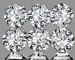 1.50 mm Round 6 pcs 0.08ct Natural White Diamond GHI VVS-VS