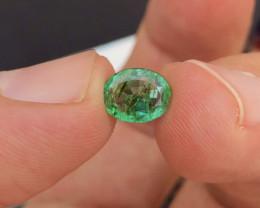 Brilliant Color  1.50 Ct Natural Emerald from Ethiopia