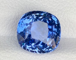GSGC~Lustrous 3.65 carats Cornflower Blue Sapphire from Srilanka
