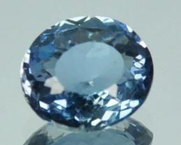 0.92 Cts Natural Rare Colour Blue Apatite Oval Brazil