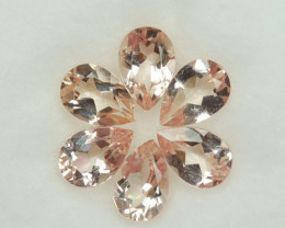 Exquisite 4.13 Cts Natural Peach Pink Morganite Pear 7 X 5mm  Parcel Brazil