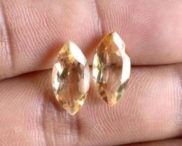 7x14mm Citrine Pair Natural Marquise Faceted Gemstone VA1238