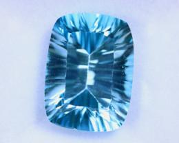12.37cts Natural Millennium Cut Blue Topaz / MA1862