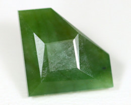 Nephrite 7.37Ct Master Cut Natural Onot River Green Nephrite Jade ET58