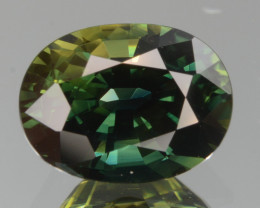 AAA Certified Natural Green-Blue  Sapphire 3.64 Cts, From Madagascar