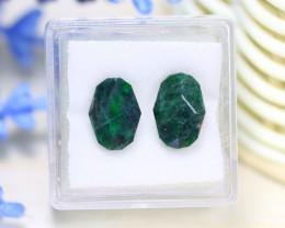 Jadeite 6.02Ct 2Pcs Natural Precision Master Cut Maw Sit Sit Jadeite B1207