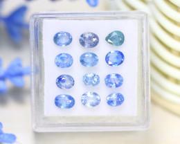 Sapphire 3.60Ct 12Pcs Natural Madagascar Blue Sapphire Box B1215