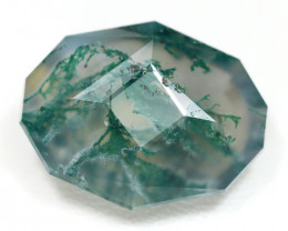 11.05Ct Moss Agate Master Cut Natural Untreated Moss Agate ET117