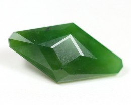 Nephrite 10.51Ct Master Cut Natural Onot River Green Nephrite Jade ET116