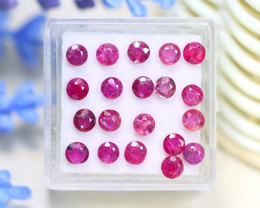 Red Ruby 4.64Ct Round Cut Siamese Pigeon Blood Red Ruby Lot B1231