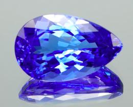 Finest Blue Tanzanite Pear 5.48Ct