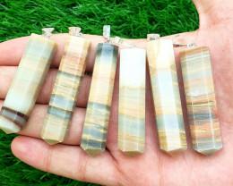 616.15 Carats 6 Peaces Natural Onyx Calcite Pendants