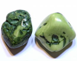 33 CTS TURTLE AGATE DRILLED BEAD PARCEL  NP-871 Npgems