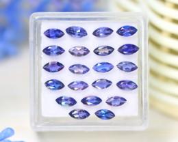Iolite 2.58Ct VS2 Marquise Cut Natural Purplish Blue Iolite Lot A1317