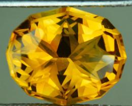 ~CUSTOM CUT~ 10.35 Cts Natural Golden Orange Citrine Fancy Oval Brazil