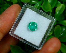Muzo 1.60Ct Natural Colombian Emerald Neon Mint Green Beryl C1303