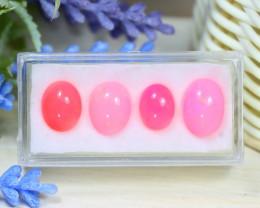 Welo Pink Opal 9.36Ct 4Pcs Natural Ethiopian Pink Color Opal C1313