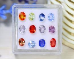 Sapphire 3.97Ct VS2 12Pcs Natural African Fancy Color Sapphire C1314
