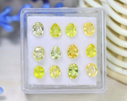 Sapphire 3.50Ct 12Pcs VS2 Natural Canary Yellow Color Sapphire C1330