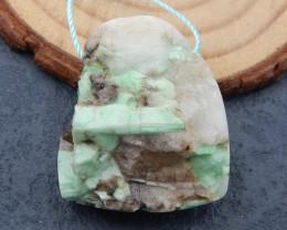 D2343 - 66.5cts nugget emerald green pendant bead,natural gemstone pendant