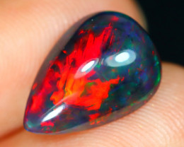 Opal 1.81Ct Natural Flash Color Ethiopian Welo Black Smoked Opal ST34