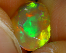 Welo Opal 1.08Ct Natural Ethiopian FacetedPlay of Color Opal D1630/A44