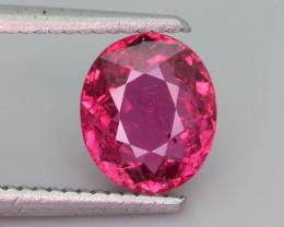 Bubble Gum Pink1.95 ct Tourmaline Natural Tourmaline Ring Size