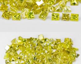 Diamond 3.08 Cts 113Pcs Sparkling Fancy Intense Yellow Natural