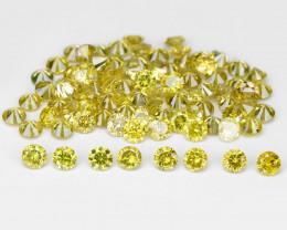 Diamond 0.36 Cts 8Pcs Sparkling Fancy Intense Yellow Natural