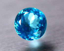 4.01ct Natural Neon BlueTopaz Round Cut Lot V8720