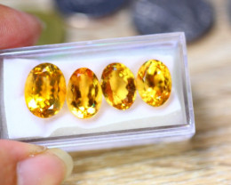 24.60ct Natural Yellow Citrine Oval Cut Lot V8728