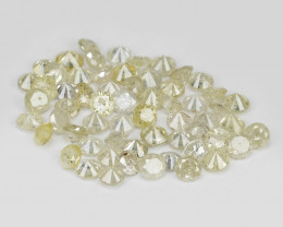 Diamond 1.61 Cts Lot Sparkling Fancy Light Yellow Natural