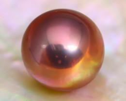 12.0mm 11.74Ct Natural Tahitian Golden Black Pearl B1411