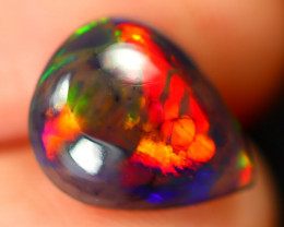 Opal 1.42Ct Natural Flash Color Ethiopian Welo Black Smoked Opal ST105
