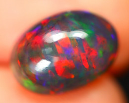 Opal 2.25Ct Natural Flash Color Ethiopian Welo Black Smoked Opal ST107