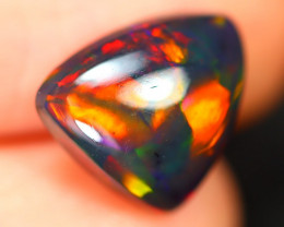 Opal 1.77Ct Natural Flash Color Ethiopian Welo Black Smoked Opal ST108