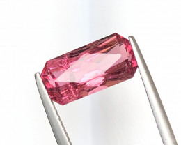 4.00 Carats Natural Rubellite Tourmaline Cut Stone from Afghanistan