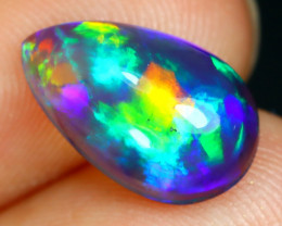 Opal 1.76Ct Natural Flash Color Ethiopian Welo Black Smoked Opal ST137