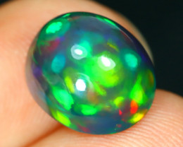 Opal 2.76Ct Natural Flash Color Ethiopian Welo Black Smoked Opal ST139