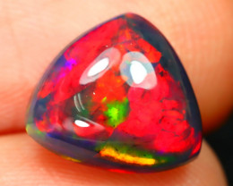 Opal 1.92Ct Natural Flash Color Ethiopian Welo Black Smoked Opal ST153