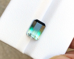 2.10 Carats Natural Bi Color Tourmaline Cut Stone from Afghanistan