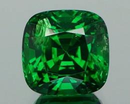 *$NR* Best Green Tsavorite Garnet Square Cushion 2.21Ct