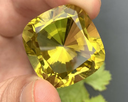 Certified  Big Size Top Grade 58.1 ct lovely  Cut Citrine