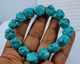 326 Cts Natural & Unheated~Turquosie Beads Bracelets