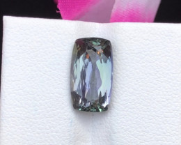 Certified 4.68 Cts  Natural Tanzanite (Zoisite)  Ring size~RM