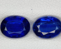 3.40 CTS EXCELLENT RARE BLUE SAPPHIRE COLOR NATURAL KYANITE OVAL GEM