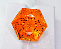 Certified Flawless 28.46 Carat Precision Citrine Master Cut Gemstone