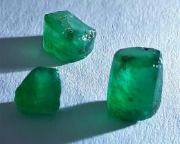 Rough Natural Emerald - Brazil - 3 Units