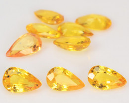 Sapphire 2.25 Carat 9pcs Natural Fancy Orange Yellow Color