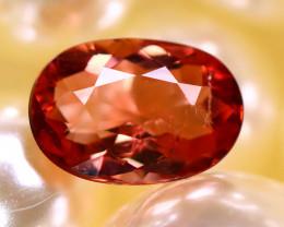 Tourmaline 1.13Ct Natural Reddish Orange Tourmaline D1817/B49